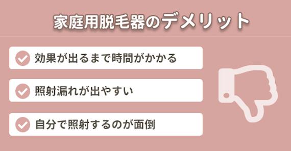 女性ひげ脱毛_家庭用脱毛器デメリット